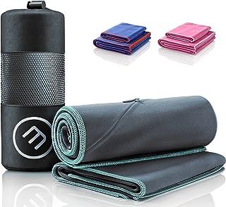 Microfiber Handduk Set: Snabbtorkande, Kompakt, Lätt + Telefonficka med Blixtlås | 2 Mjuk Mikrofiberhandduk Liten + Stor f...