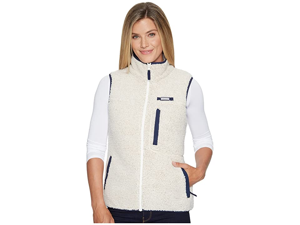 Columbia Mountain Side Heavyweight Fleece Vest (Chalk/Collegiate Navy) Women