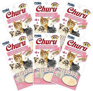 INABA Churu Tuna with Salmon Flavored Recipe 6 Packs, 56 Grams
