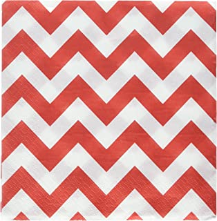 Chevron Lunch Napkins Apple Red