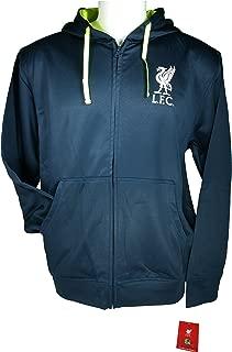 Liverpool F.C. Zipper Front Fleece Jacket Sweatshirt Official License Soccer Hoodie 003