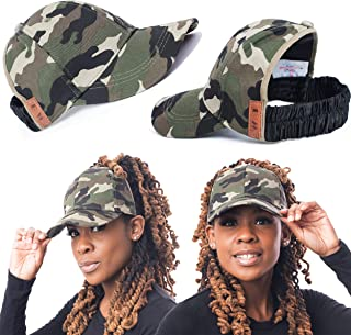 Satin Lined Baseball Hat for Women | Ponytail Hat for Curly Natural Hair | Backless Cap | Curl Hair Cap