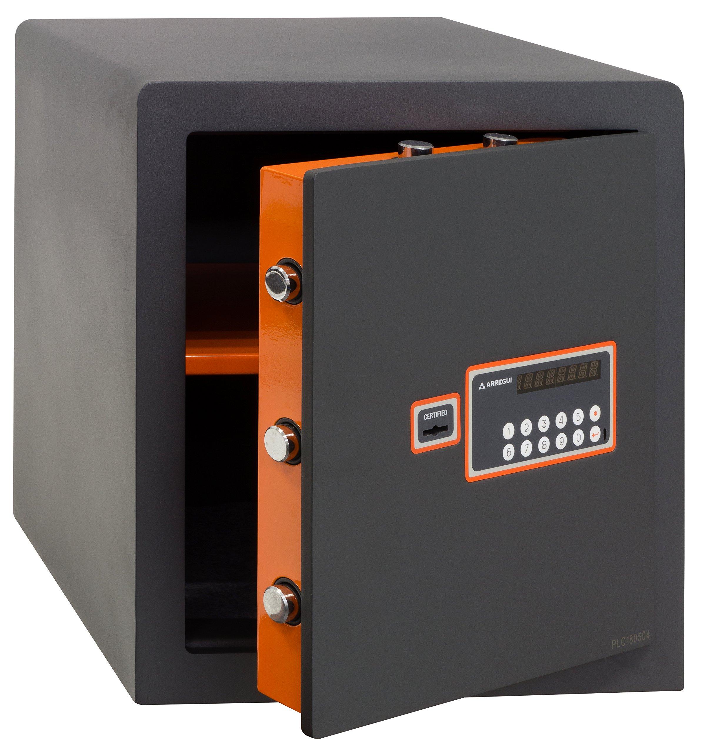 Arregui - Caja Fuerte sobreponer electrónica gris grafito ...
