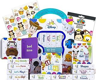 Disney Board Book Bundle - 12 Disney Baby Books | Disney Book Set for Toddlers, Kids with 120 Tsum Tsum Stickers (Disney L...