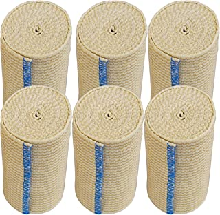 "NexSkin Cotton Elastic Bandages w/Hook Loop Closure, 4"" Width - 1, 2, 3 6 Pack"