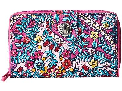 Vera Bradley Iconic RFID Turnlock Wallet (Kaleidoscope) Wallet Handbags