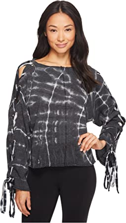 Hard Tail - Slouchy Crop Lace Flare Pullover