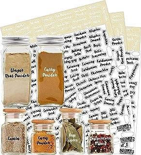 528 Labels: 484 Spice Names + 44 Blank Labels   Most Cursive Preprinted Black & White Letters Label Set   Alphabetized Spi...
