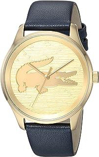 Lacoste Victoria 2000996 - Reloj de cuarzo para mujer, acero inoxidable, correa de piel, color azul, modelo 19
