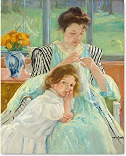 Mary Cassatt Art (Impressionist Painting Print, Museum French Country Wall Decor)