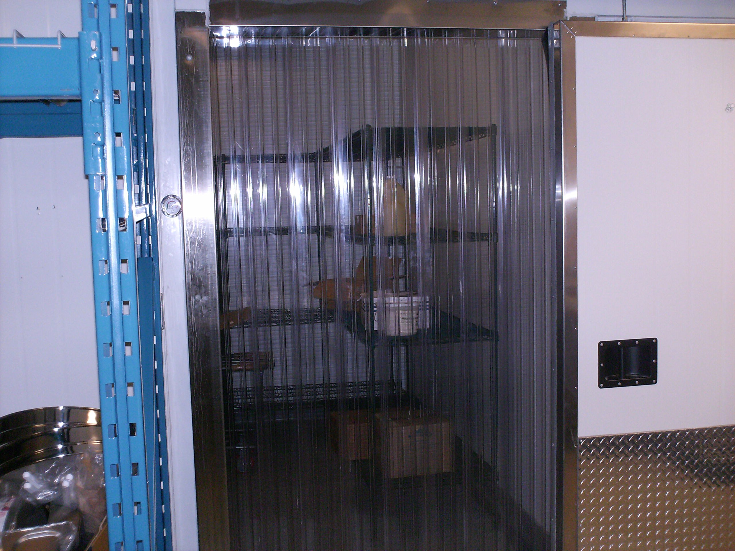 Strip-Curtains.com: Strip Door Curtain Width X 72 in. Common Door Kit Blue Opaque Strip 8 in 6 ft Strips with 100/% Overlap Hardware Included Height 9 ft 108 in.