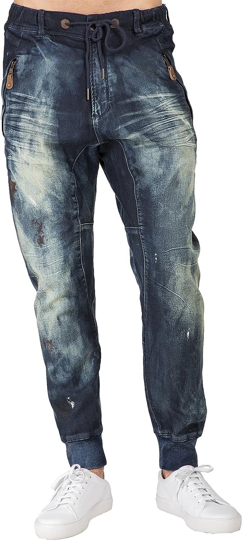 Level Max 71% OFF 7 Men's Premium Knit Denim Jeans Jogger Indigo Drop Crotch Recommendation