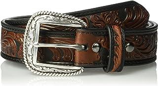 Ariat Men's Black & Brown Floral Basic Belt