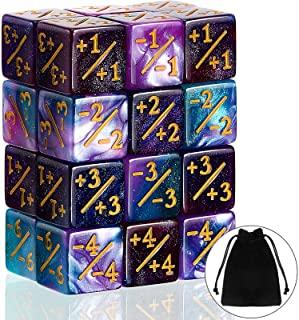 24 Pieces Dice Counters Token Dice D6 Dice Cube Loyalty Counter Dice Compatible with MTG, CCG, Card Gaming Accessory, 2 St...