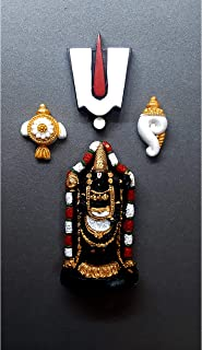 the monument shop Tirupati Balaji Fridge Magnet Handcrafted in India Vocal for Local Best for Gift, puja and car Dashboard