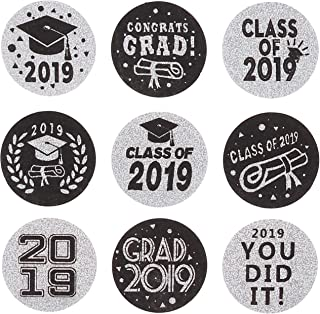 Class of 2019 Graduation Party Hershey Kisses Stickers Labels | 270 Stickers(shiny silvery laser)