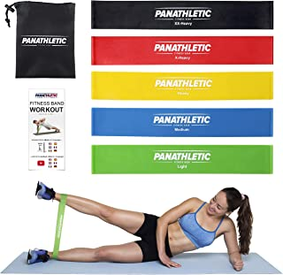 Resistance Loop Bands/Exercise Bands/Fitness Bands, Set of 5, with Exercise Guide, eBook and Carry Bag – 5X Power Body Wor...