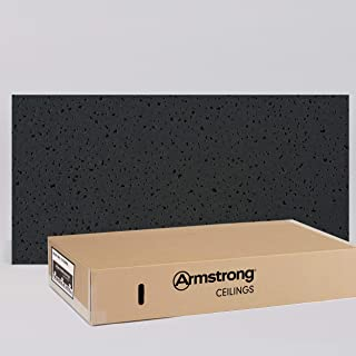 Armstrong Ceiling Tiles; 2x4 Ceiling Tiles – HUMIGUARD Plus Acoustic Ceilings for Suspended Ceiling Grid; Drop Ceiling Tiles Direct from the Manufacturer; FINE FISSURED Item 1729BL – 12 pc Layin Black