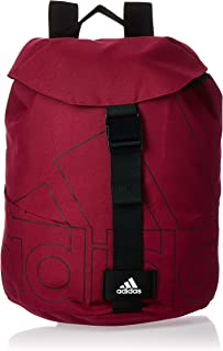 adidas Womens Flap Backpack, Power Berry/White/Black