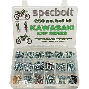 120pc Specbolt Kawasaki KFX450R KFX700 ATV Bolt Kit for Maintenance /& Restoration OEM Spec Fasteners KFX 450 700 400