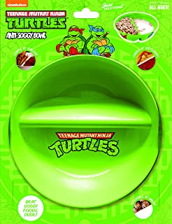 Anti-Soggy Cereal Bowl By Just Solutions - Keeps your Cereal Fresh and Crunchy   BPA Free and Microwave Safe   For Ice Cream & Topping, Yogurt & Berries, Fries & Ketchup, etc. - Ninja Turtles