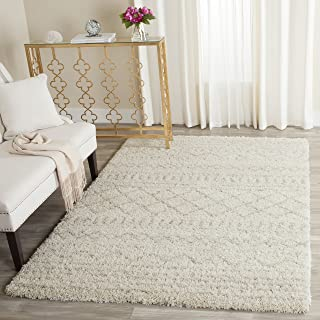 Safavieh Arizona Shag Collection ASG741A Southwestern Ivory and Beige Area Rug (4' x 6')