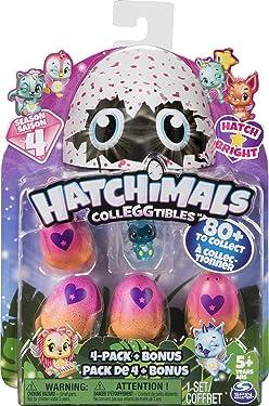 Hatchimals CollEGGtibles 4-Pack + Bonus Season 4 Hatchimals CollEGGtible, edad 5 y más (estilos y colores pueden variar)