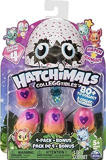 해치멀 에그 장난감 Hatchimals CollEGGtibles, 4 Pack + Bonus, Season 4 Hatchimals CollEGGtible, for Ages 5 and Up