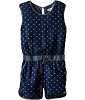 Appaman Kids - Soft Kennedy Chambray Romper with Bleached Star Design (Toddler/Little Kids/Big Kids)