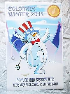 2013 Bob Weir Phil Lesh Furthur Concert Poster Winter Snowman Denver
