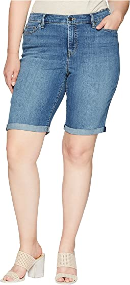 Plus Size Superstretch Denim Shorts