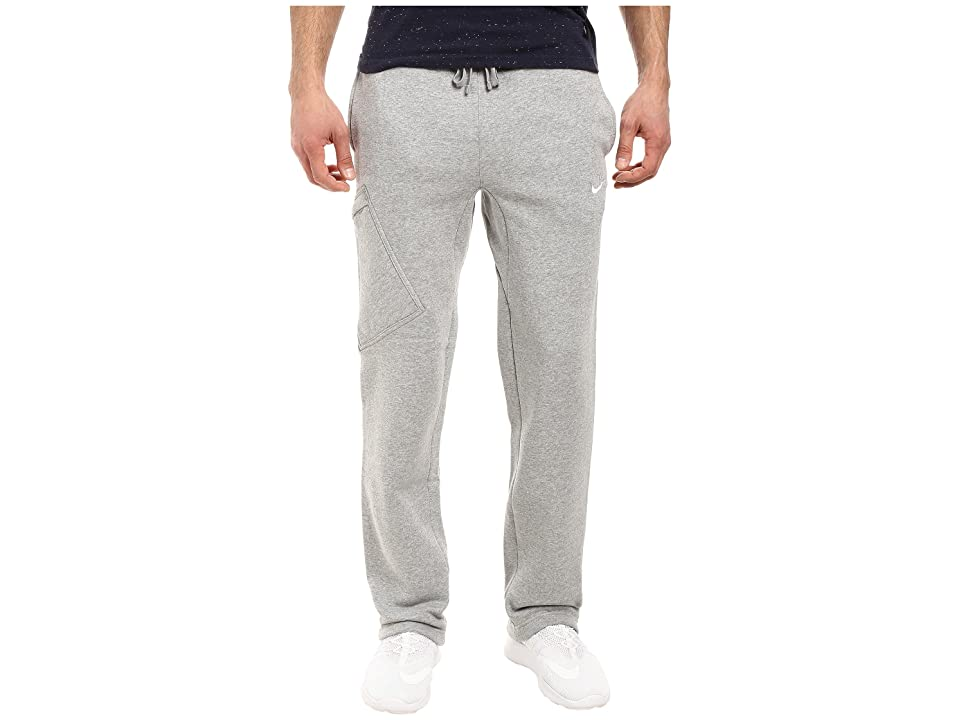 Nike Club Fleece Cargo Pant (Dark Grey Heather/White) Men