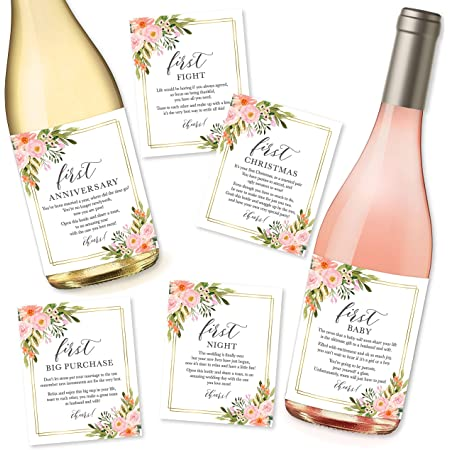 Gifts for Bridal Shower 7 Wedding Milestone Wine Bottle Labels Wedding Gifts for Couple