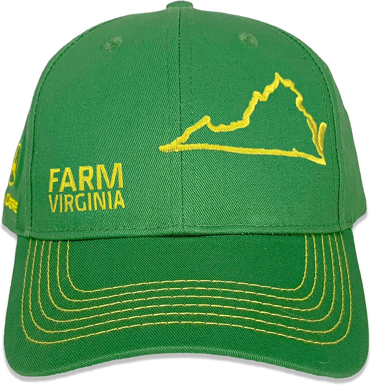 John Deere Farm State Pride Full Twill Hat-Green and Yellow-Virginia