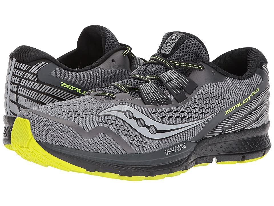 Saucony Zealot ISO 3 (Grey/Black/Citron) Men