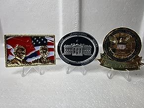 Three Challenge Coins President Donald Trump White House Kim Jong Un Singapore Summit and Spinner White House Challenge Coins