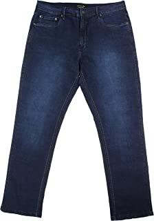 Urban Star Men's Relaxed Fit Straight Leg Jeans (34 x 34, Midnight Blue)