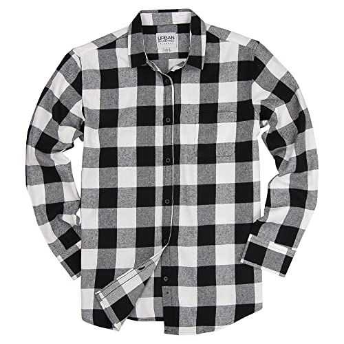 7433372068e Urban Boundaries Womens Buffalo Plaid Long Sleeve Flannel Shirt