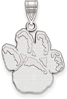 University of Pittsburgh Panthers School Mascot Pendant in Sterling Silver 20x18mm