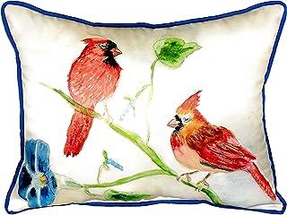 """Betsy Drake SN270 Betsy's Cardinals Pillow, 11"""" x14"""""""
