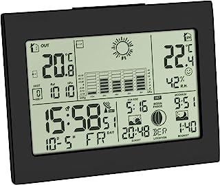 TFA Dostmann 35.1155.01 Estación meteorológica Digital con Sensor Remoto, 16,8 x 13,6 x 6,4 cm, Negro