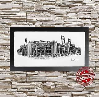 Busch stadium st louis cardinals St louis Cardinals gift Busch Stadium art print black and white