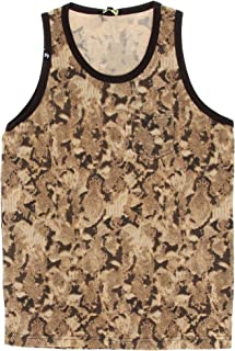ada8256869be4 Imperious Men s Allover Animal Print Pocketed Tank Top