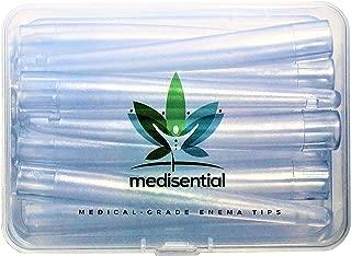 MEDISENTIAL Enema Bucket, Bag & Bulb Kit Nozzle Tips (Box of 12) - Non-Toxic, Soft, Flexible, and Comfortable Parts