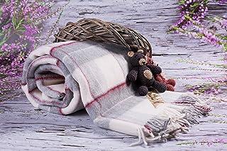 comprar comparacion Merino Wool Bedding Blanket - Manta (lana de oveja, 160 x 200 cm), diseño de cuadros