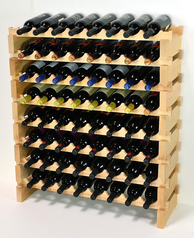 Modular 5 popular Wine Rack Pine Wood 32-96 8 Capacity Bott 100% quality warranty! Storage Bottle