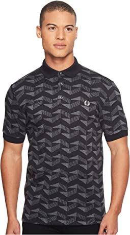 Fred Perry Graphic Jacquard Pique Polo