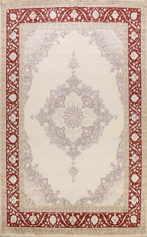100% Vegetable Dye Floral Wool Silk Kashaan Daily bargain sale free Ha Area Rug Oriental