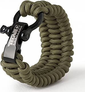 Titan Paracord Survival Bracelet   Made with Authentic Patented SurvivorCord (550 Paracord, Fishing line, Snare Wire, and Waxed Jute for Fires). Disassemble for Emergencies. Free eBooks Included.