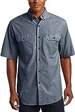 Carhartt Men's Fort Short-Sleeve Shirt Lightweight Chambray Button-Front S200